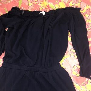 Dresses & Skirts - Navy blue off the shoulder romper